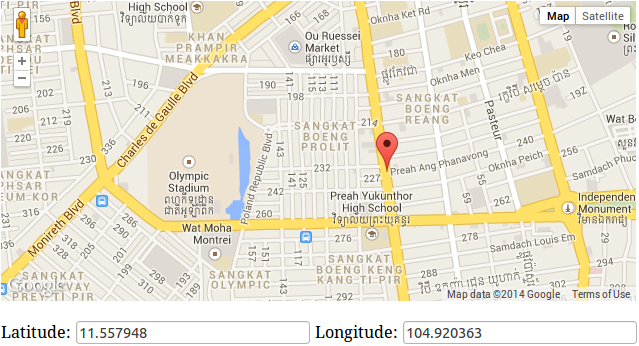 Google map draggable maker geekhmer fortunately googles javascript api offers this functionality out of the box below youll find an example based on google maps api v3 gumiabroncs Gallery