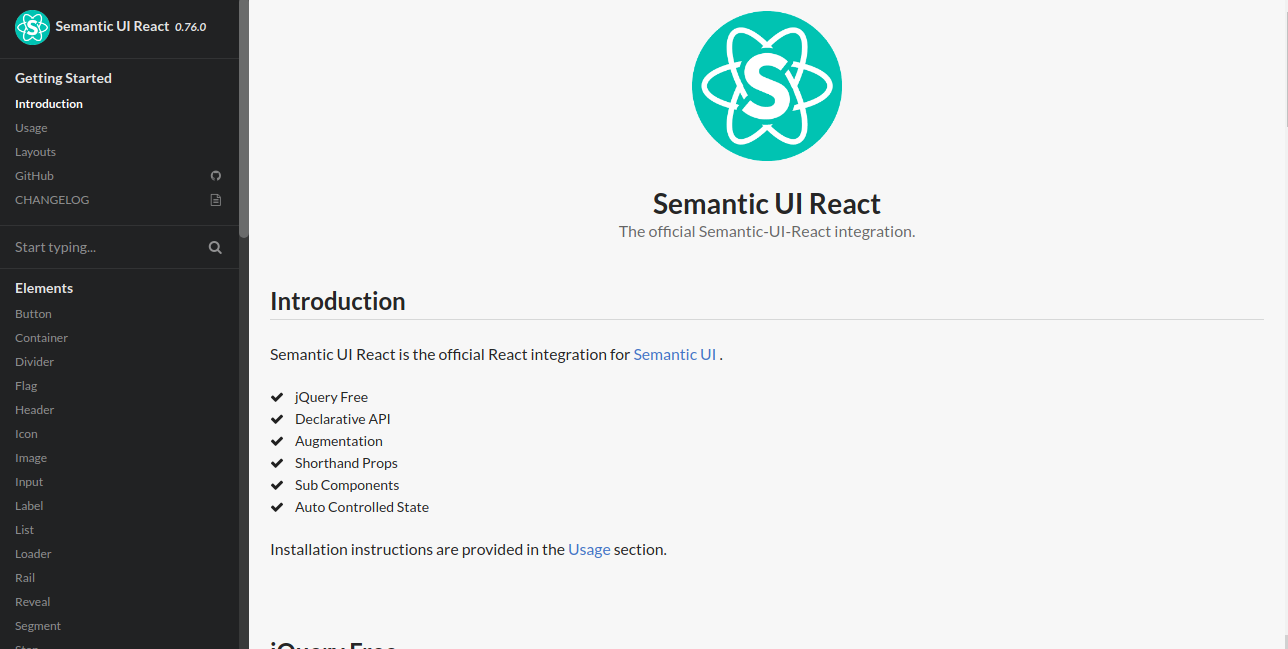 React Semantic